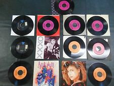 80's Records 45 RPM Lot PAULA ABDUL 10 different records/3 with picture sleeves