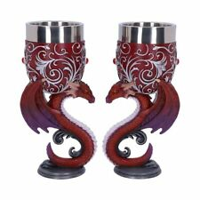 More details for new goblet pair of dragons alter chalice cup nemesis now b5190 18cm