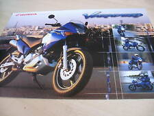 Honda Varedero 125 Motorcycle Sales Brochure 2000