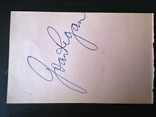 JOAN REGAN - 1950-60's RECORDING ARTIST - SIGNED VINTAGE ALBUM PAGE