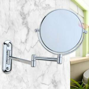 10X Magnifying Round Double-side Mirror Wall Mounted Make Up Shaving Bathroom