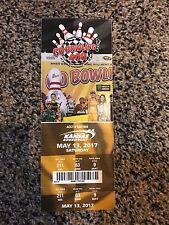 2017 GO BOWLING 400 NASCAR TICKET STUB KANSAS SPEEDWAY MARTIN TRUEX JR WINS 5/13