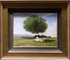 "Samy Charnine ""Summer Shade""Original Oil on Canvas cow Canvas with custom frame"