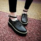 Fashion Womens Lace Up Flat Platform Creeper College Oxford Roma Buckle Shoes