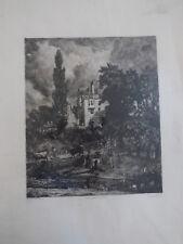 Superbe eau forte  The romantic house de J park d'apres John Constable