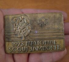Vintage BSA Boy Scouts 1973 National Scout Jamboree Brass Belt Buckle RARE