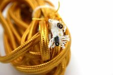 2 METERS 6.56FT GOLD PARALLEL POWER CORD CLOTH WIRE FOR OLD RADIO VACUUM TUBES