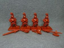 Heroquest Set of 4 Men at Arms Wizards of Morcar originial plastic minis 80s