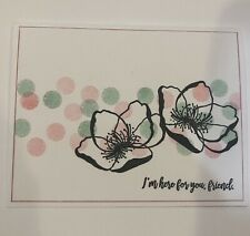 Card Kit Set Of 4 Stampin Up Polka Dots Flowers Any Occasion
