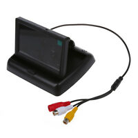 "4.3"" Folding Foldable LCD Monitor Rear View Backup Camera For Car O8L3"