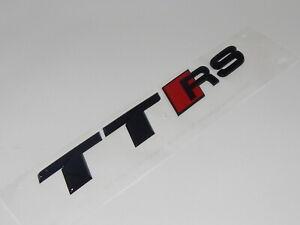New Genuine Audi TTRS Rear TTRS Emblem In Black 8S0853740A T94