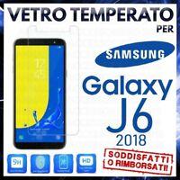 Pellicola in VETRO TEMPERATO per SAMSUNG GALAXY J6 2018 Proteggi Schermo J600F