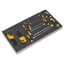 Sealey S01134 herramienta bandeja con mango en T & juego de llaves hexagonales