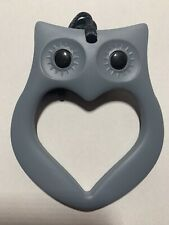 Kids Baby Grey Owl Teether Chewy Necklace Autism ADHD Biting Sensory Chew