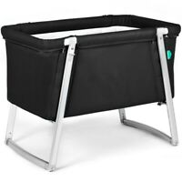 BabyHome Dream Little Cot Portable Travel Crib Bassinet in Black
