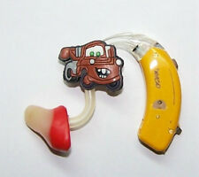 Children's Adult's Hearing Aid accessories tube charms BROWN TOW TRUCK
