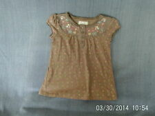 Girls 7-8 Years - Blush Short Sleeved Top, Floral Pattern & Embroidery