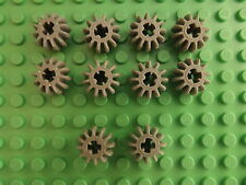 10 Lego Light Grey Technic Gear 12 Tooth Double Bevel Spare Part 32270 T055