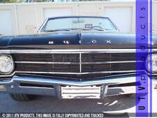 GTG 1966 Buick Skylark 4PC Gloss Black Upper Overlay Billet Grille Grill Kit