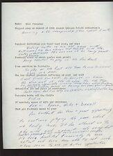 1961 Bill Forester Green Bay Packers Handwritten Questionare To Murray Olderman