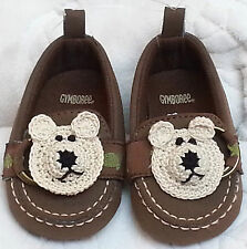 NEW GYMBOREE TAN MICRO SUEDE SHOES LOAFERS BOYS BABY INFANT 3 6 MONTHS SIZE 1 2