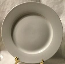 Rare Crate & Barrel Dinner Plate - Porcelain China, all white - Discontinued