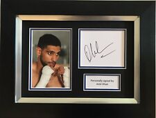 AMIR KHAN HAND SIGNED FRAMED PHOTO DISPLAY BOXING AUTOGRAPH 1.