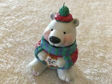 Vintage Collectible 2002 Hallmark Bear Eating Cookie Christmas Ornament