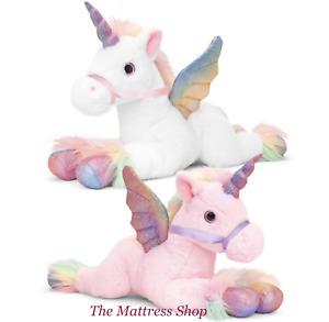 ~❤️~PEGASUS Unicorn White and Pink 35cms soft Toy Rainbow Horse by Korimco~❤️~