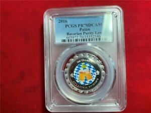 PALAU 2016 $1 500 Years Bavarian Purity Law .999 Silver Bottle Cap PCGS PR-70DCA