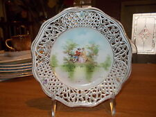 "Vintage 6"" Carl Schumann Bavaria Courting Couple Reticulated Plate"