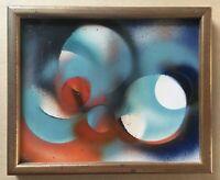 Alfred Wunderwald 1905-1981 Scheibenbild Kreise 60er Jahre Kunst 24 x 29,5
