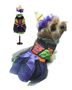 High Quality Dog Costume - NEON WITCH COSTUMES - Dress Your Dogs Like Witches