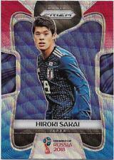 2018 Panini FIFA World Cup Blue Red Wave Prizm (117) Hiroki SAKAI Japan