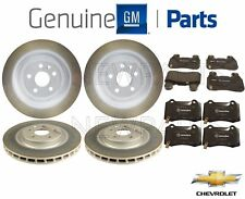 Front & Rear Brake Pad Sets & 2 Disc Rotors Kit Genuine For Chevy Camaro SS V8