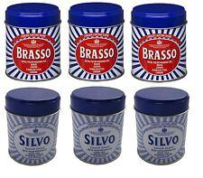 3 x Brasso Wadding Duraglit & 3 x Silvo Silver Metal Polish  **6 Tins In Total**