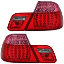 2 FEUX ARRIERE LED BMW SERIE 3 E46 BERLINE 5/1998 A 9/2001 ROUGE ROSE LOOK US