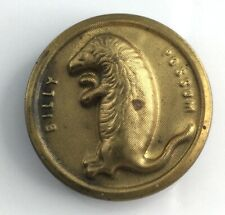 Billy Possum President Taft Antique Metal Picture Button Old Verbal Political