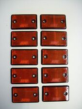 10  Rectangular Red  Reflectors for Trailers/Fencing/Posts/Gates/Driveways etc
