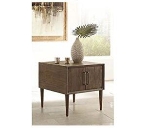 Ashley Furniture Signature Design - Kisper Contemporary Square End Table...