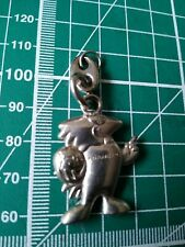 France 98 World Cup FOOTIX mascot stainless steel keyring 30mm tall