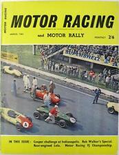 MOTOR RACING Magazine Mar 1961 - Cooper, F J Bond, Indy 500, Lola Junior