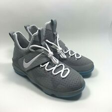 new product 82116 3ae76 Nike Lebron 14 XIV GS Mag Marty McFly Gray Blue 859468-005 Size 7Y