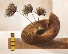 Karsten Kirchner: In the Mood Leinwand-Bild 24x30 Stilleben modern braun floral