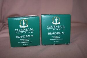 (2) Clubman Pinaud Beard Balm Conditioning Style Wax 2 oz./59 g. Each NEW in Box