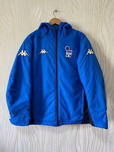 ITALY 2000s FOOTBALL SOCCER COAT JACKET KAPPA sz M MENS BLUE