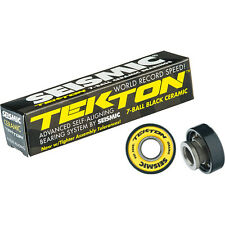 Seismic Tekton 8mm Black Ball Ceramic Skateboard Longboard Pro Bearings