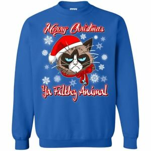 Christmas ugly Sweater Hoodie - Grumpy Cat Funny Christmas Gifts