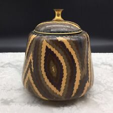 Chinese Cloisonne Enamel on Brass Abstract Geometric Biscuit Jar