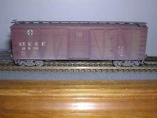 Accurail #4401 Santa Fe 40' O.B.Wood Box Car #12999 w/Steel Ends Weathered